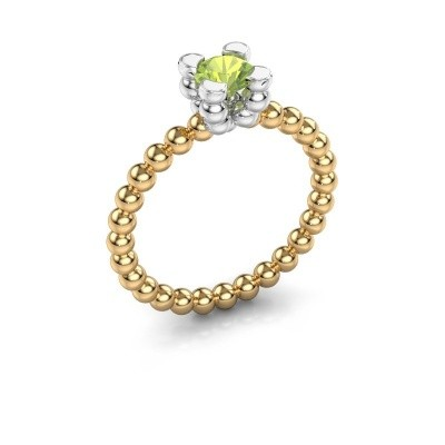 Ring Aurore 585 goud peridoot 5 mm