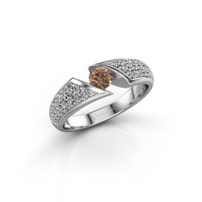 Foto van Verlovingsring Hojalien 3 950 platina bruine diamant 0.73 crt