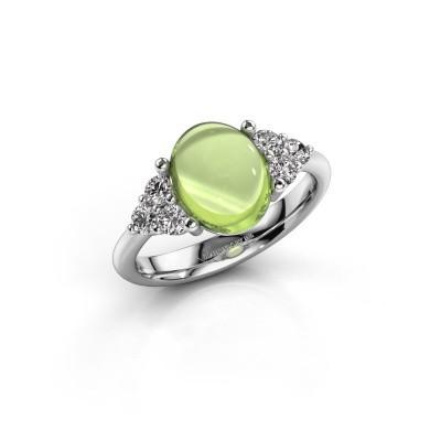Ring Clarice 950 platina peridoot 10x8 mm