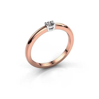 Foto van Verlovingsring Michelle 1 585 rosé goud lab-grown diamant 0.08 crt