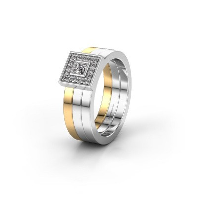 Trouwring WH2104L 585 goud diamant ±6x2.8 mm