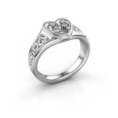 Foto van Ring Eura 950 platina lab-grown diamant 0.25 crt
