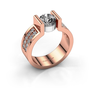 Verlovingsring Isabel 3 585 rosé goud diamant 1.40 crt