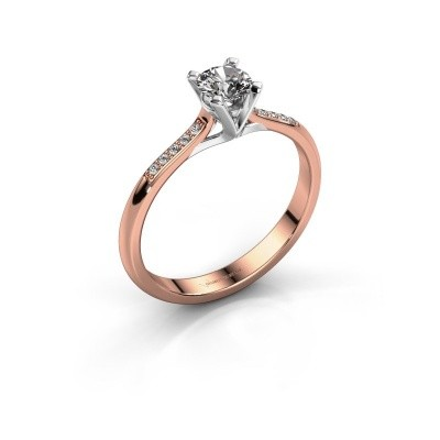 Picture of Engagement ring Isa 2 375 rose gold lab-grown diamond 0.30 crt