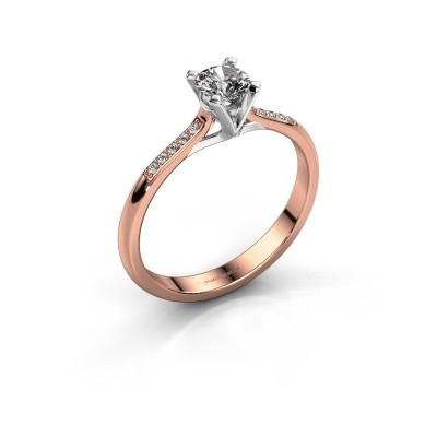 Foto van Aanzoeksring Isa 2 375 rosé goud lab-grown diamant 0.30 crt