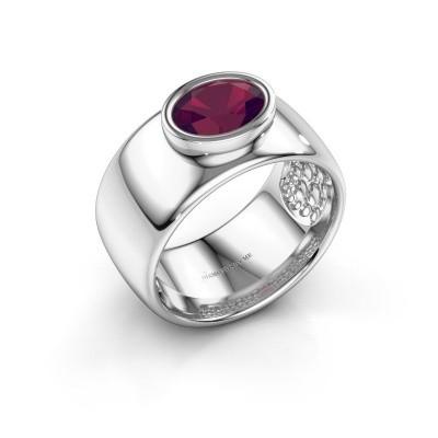 Ring Anouschka 925 silver rhodolite 8x6 mm