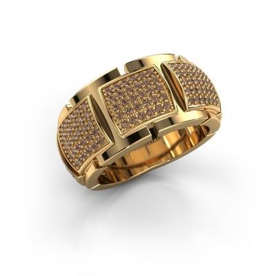 Foto van Ring Laura 375 goud bruine diamant 0.75 crt