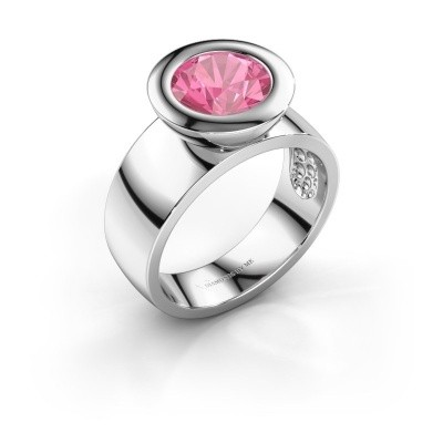 Ring Maxime 925 silver pink sapphire 8 mm