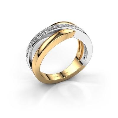 Foto van Ring Colette 585 goud diamant 0.20 crt
