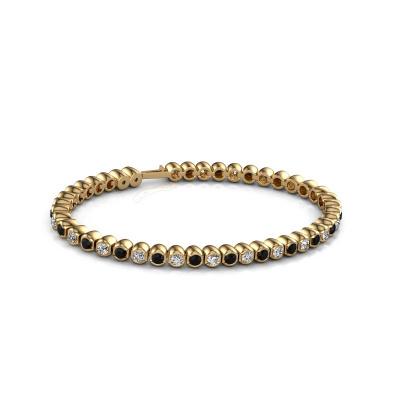Picture of Tennis bracelet Bianca 3 mm 375 gold black diamond 4.84 crt