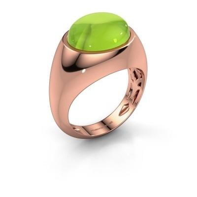 Ring Laurien 585 rosé goud peridoot 12x10 mm
