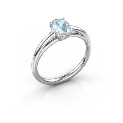 Picture of Engagement ring Haley OVL 1 950 platinum aquamarine 7x5 mm