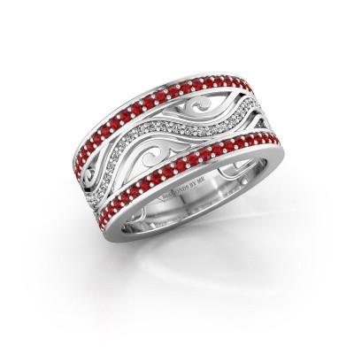 Ring Louvenia 925 Silber Rubin 1.2 mm