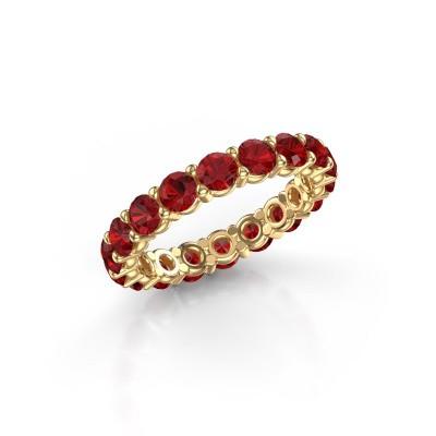 Foto van Ring Heddy rnd 3.4 375 goud robijn 3.4 mm