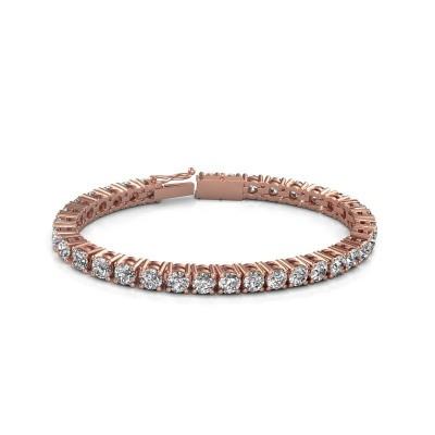 Tennisarmband Karin 5 mm 375 rosé goud diamant 17.00 crt