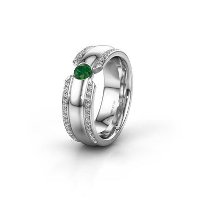 Ehering WHR0575L 950 Platin Smaragd ±7x2 mm