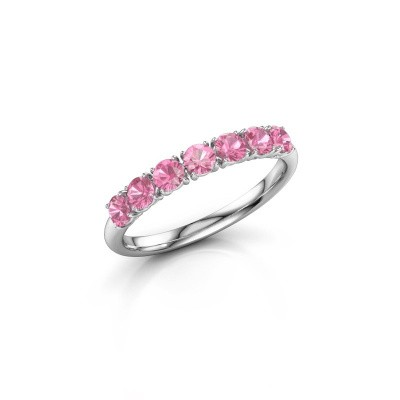 Foto van Ring Vivienne Half 950 platina roze saffier 2.9 mm