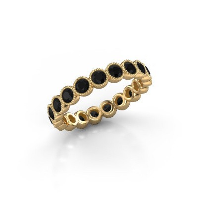 Foto van Ring Mariam 0.07 375 goud zwarte diamant 1.824 crt