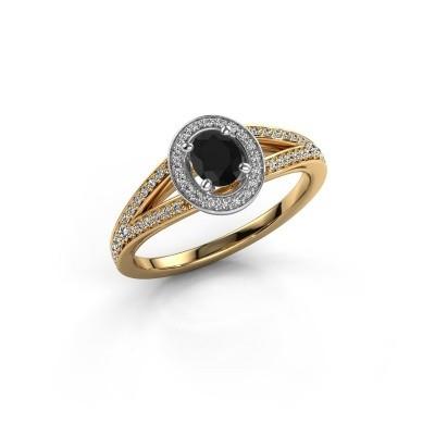 Verlovings ring Angelita OVL 585 goud zwarte diamant 0.803 crt