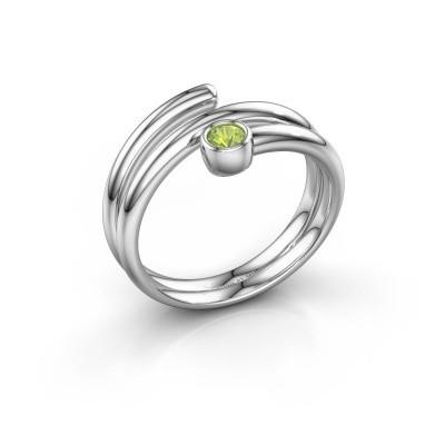 Ring Jenna 585 Weißgold Peridot 3 mm
