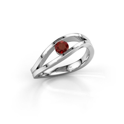 Bild von Ring Sigrid 1 925 Silber Granat 4 mm