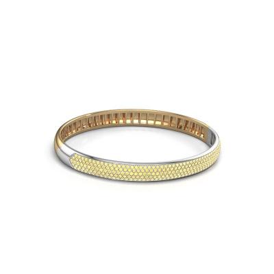 Slavenarmband Emely 7mm 585 goud gele saffier 1.2 mm