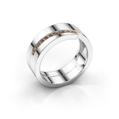 Foto van Ring Loma 585 witgoud bruine diamant 0.165 crt