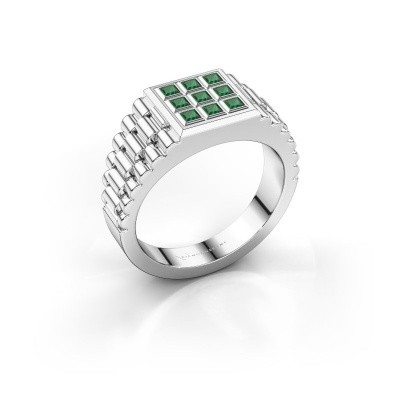 Bild von Rolex Stil Ring Chavez 950 Platin Smaragd 2 mm