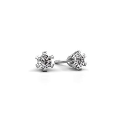 Foto van Oorstekers Shana express 585 witgoud diamant 0.25 crt