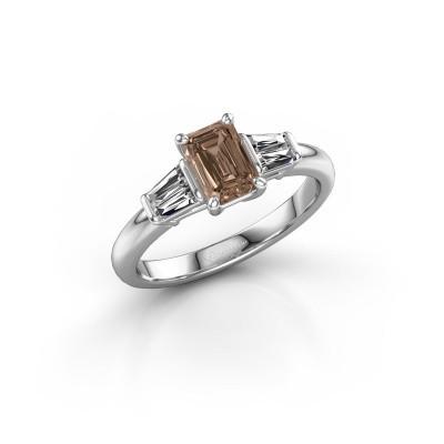Foto van Verlovingsring Kina EME 925 zilver bruine diamant 1.22 crt