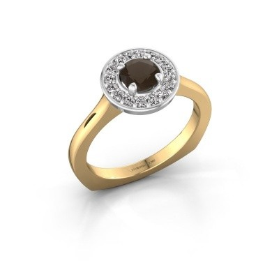 Foto van Ring Kanisha 1 585 goud rookkwarts 5 mm