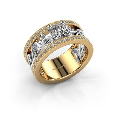 Ring Sanne 585 goud zirkonia 5 mm