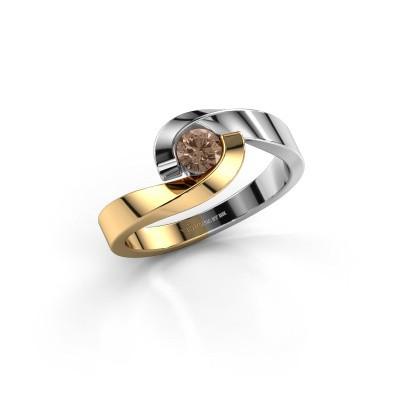 Foto van Ring Sheryl 585 goud bruine diamant 0.25 crt