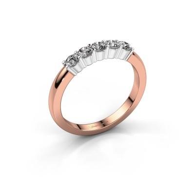 Foto van Verlovingsring Yasmin 5 585 rosé goud lab-grown diamant 0.50 crt