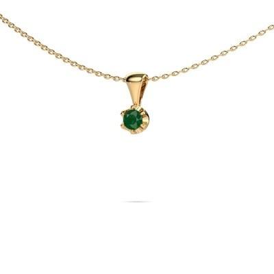 Foto van Ketting Fran 585 goud smaragd 3.4 mm