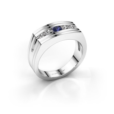 Foto van Heren ring Huub 925 zilver saffier 3.7 mm
