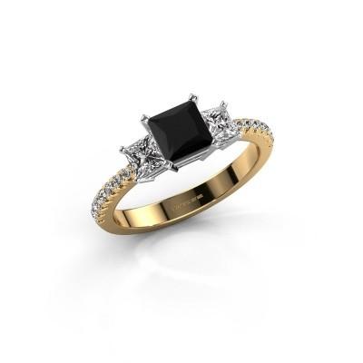 Verlovingsring Dorla 585 goud zwarte diamant 1.605 crt