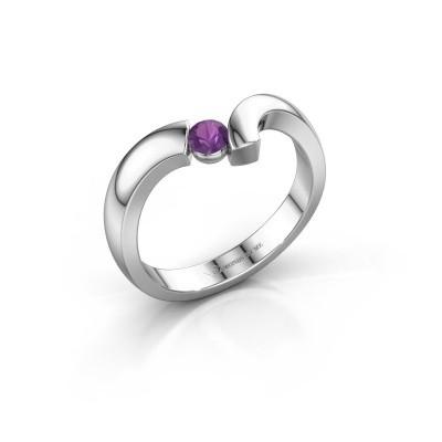 Ring Arda 925 zilver amethist 3.4 mm