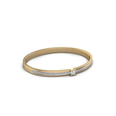 Bracelet Myrthe 585 gold aquamarine 4 mm