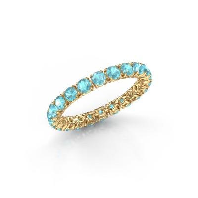 Bild von Ring Vivienne 2.7 375 Gold Blau Topas 2.7 mm