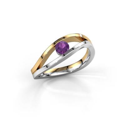 Foto van Ring Sigrid 1 585 witgoud amethist 4 mm