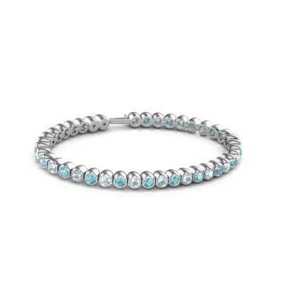 Tennisarmband Mellisa 585 witgoud blauw topaas 3.5 mm