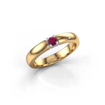 Engagement ring Rianne 1 585 gold rhodolite 3 mm