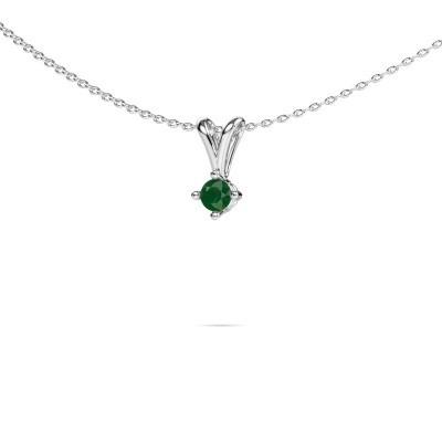 Foto van Ketting Jannette 585 witgoud smaragd 3.7 mm