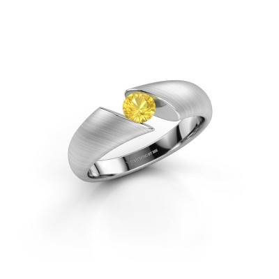 Bild von Ring Hojalien 1 925 Silber Gelb Saphir 4.2 mm
