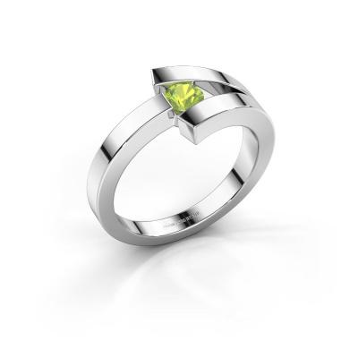 Ring Sofia 925 silver peridot 3.7 mm