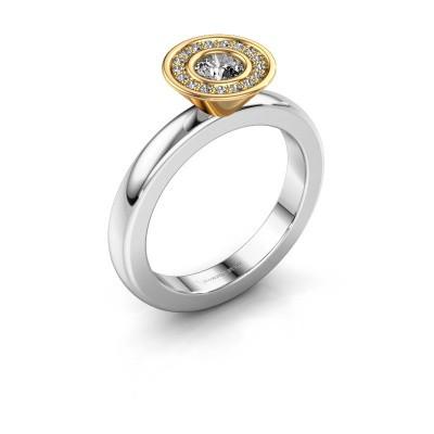 Steckring Danille 585 Weißgold Diamant 0.335 crt