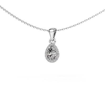Halskette Seline per 585 Weißgold Diamant 0.45 crt