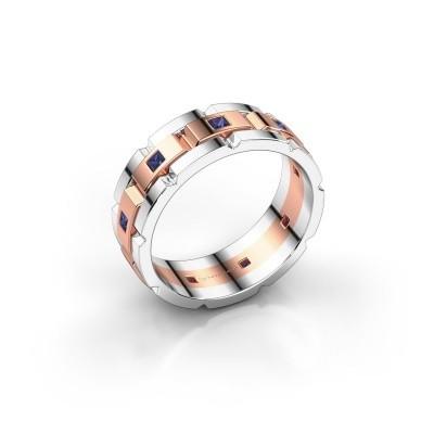 Foto van Heren ring Ricardo 585 rosé goud saffier 2 mm