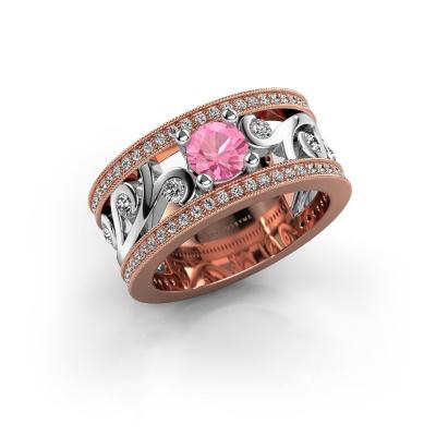 Bild von Ring Sanne 585 Roségold Pink Saphir 5 mm